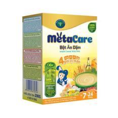 Bột ăn dặm MetaCare 4 gói vị mặn & Olive 200g (7 – 24 tháng tuổi)