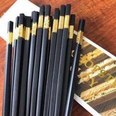 Hộp 10 đũa hợp kim mạ vàng