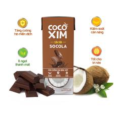 [UỐNG LÀ ĐẸP] Sữa Dừa Socola – Sự kết hợp độc đáo giữa 100% tư Dừa Nguyên chất & Socola thượng hạng – Thương hiệu COCOXIM – Hộp nhỏ tiện dụng dung tích 180ml/hộp – TT CIRINO