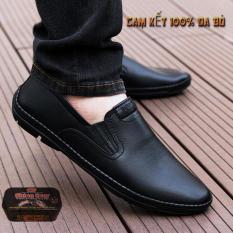 Giày lười nam giày mọi nam da bò (TẶNG XI)