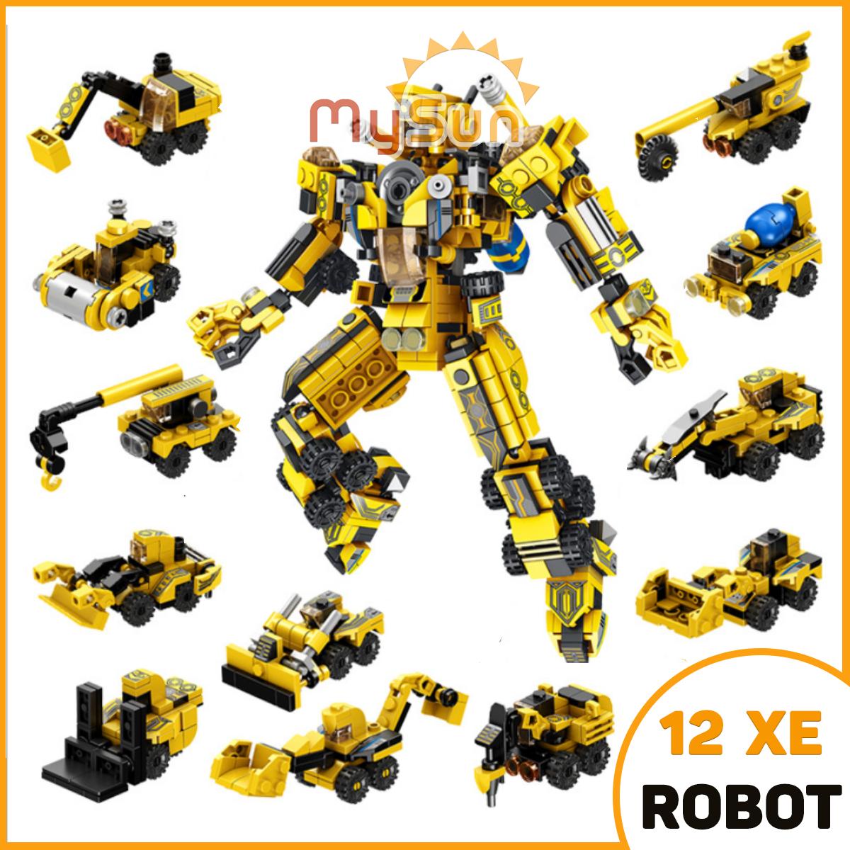LEGO ROBOT biến hình xe ô tô máy bay mô hình đồ chơi mini bằng nhựa ABS cao cấp MySun