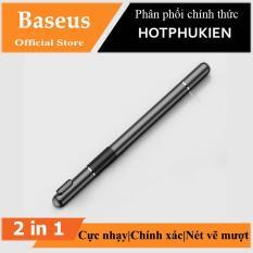 Bút cảm ứng 2 đầu 2 in 1 hiệu Baseus cho điện thoại mày tính bảng iPhone iPad Samsung window PC (đen) – Phân phối HotPhuKien