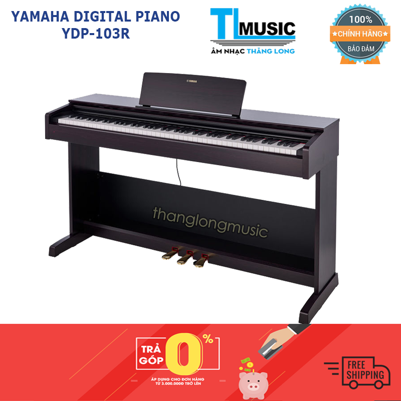 Hỗ trợ trả góp 0% – Đàn piano điện Yamaha YDP103R (YDP 103) – Diagital Piano Yamaha YDP-103R