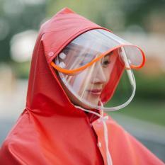 Áo mưa phản quang có kính che mặt 1 đầu chất liệu dày dặn, chống thấm, Áo mưa xịn