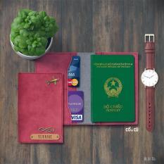 Túi đựng passport đỏ tía + hơn 20 màu khác