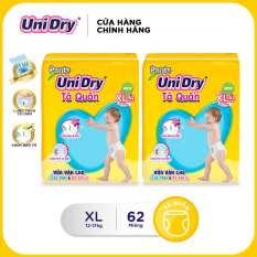 Combo 2 tã quần Unidry gói Super Jumbo size XL (62 miếng)