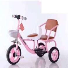 Xe đạp xích lô 2 ghế cho bé cao cấp cỡ đại cho bé