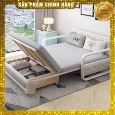 Giường sofa bọt biển, Sofa bed thông minh gấp gọn, giường gấp gọn 1m8 có ngăn đựng đồ ( quà tặng trị giá 700k )