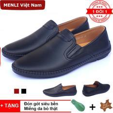 [DA BÒ XỊN] Giày da bò thật cao cấp MENLI GLLZ85 siêu mềm, siêu êm chân (Tặng đón gót siêu bền)
