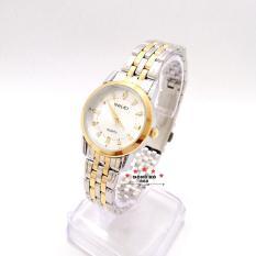 Đồng hồ nữ HALEI dây kim loại thời thượng ( HL502 dây demi mặt trắng ) – TẶNG 1 vòng tỳ hưu phong thuỷ