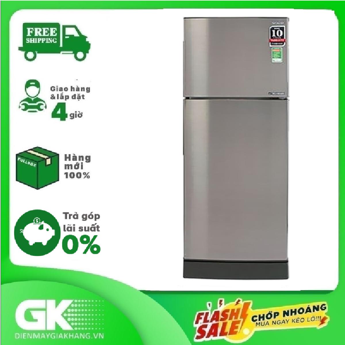 [GIAO HÀNG 2 – 15 NGÀY, TRỄ NHẤT 30.09] TRẢ GÓP 0% – Tủ lạnh Sharp Inverter 180 lít SJ-X196E-SL- Bảo hành 12 tháng