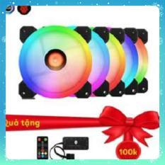Bộ 5 Fan LED RGB Coolmoon Sunshine Dual Ring kèm HUB + điều khiển