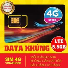 SIM 3G 4G VINAPHONE D500 5.5GB/1 THÁNG x 12 tháng trọn gói 1 năm không nạp tiền'