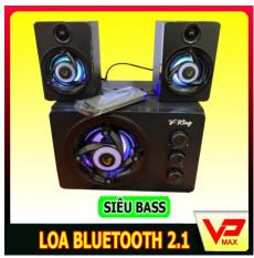 Loa bluetooth 2.1 Vking có đèn led RGB đổi màu dùng được điện thoại laptop có cổng USB, thẻ SD phát nhạc – vpmax – Loa Nhỏ Gọn Hỗ trợ cổng 3.5mm – vpmax