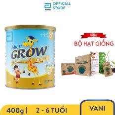Sữa bột Abbott Grow Gold 3+ Hương Vani 400g Tặng Bộ hạt giống