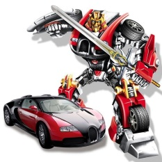 Đồ Chơi Xe Biến Hình Robot Phát Sáng