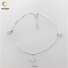 Lắc chân bạc Ý 925 Huệ Ngân – Cỏ bốn lá may mắn RYBJ50079