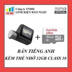 Camera hành trình Xiaomi 70Mai Pro – Bản Tiếng Anh – Kèm thẻ nhớ 32GB Class 10