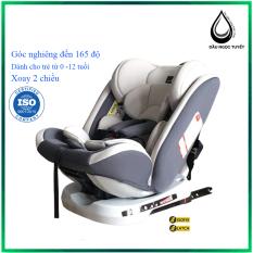 Ghế ô tô cho bé 2 chiều CHUẨN ISO 9001, điều chỉnh 4 tư thế từ nằm tới ngồi, ngã 165 độ và có thể điều chỉnh độ cao 7 cấp cho bé từ 0-12 tuổi (đen)