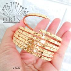 Vòng 7 chiếc, vòng ximen có khóa bền màu khắc OX V1939 thiết kế thời thượng Orin V2146