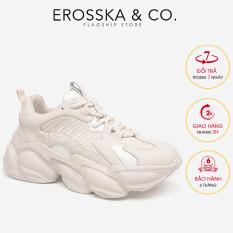 Giày thể thao nữ đế độn thời trang Erosska kiểu dáng Hàn Quốc năng động màu trắng – ES004