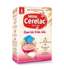 Bộ 2 hộp Bột ăn dặm Nestlé Cerelac 200g Gạo Lức Trộn Sữa + Tặng 1 lục lạc cầm tay