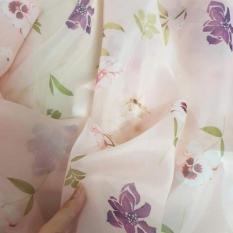 vải oganza hoa