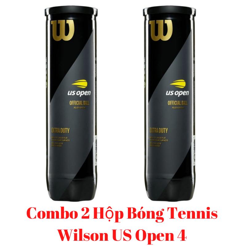 Combo 2 Hộp Bóng Tennis Wilson US Open 1 Hộp 4 Trái