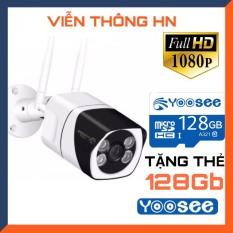 [TẶNG THẺ 128GB – BẢO HÀNH 5 NĂM ] Camera wifi ip yoosee s10 3.0 hd full màn hình 1080p ngoài trời khả năng lưu trữ 128gb – trong nhà xem đêm có màu – camera vỏ bằng thép chống nước