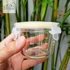 Hộp thủy tinh chia vạch Lock&Lock Baby Food Container dung tích 150ml dùng đựng thức ăn cho bé LLG820