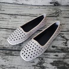 Giày Mùa Hè Nữ Giày Bệt Nữ Dáng Đẹp Dễ Thương Evelynv GB2913 (Nâu – Trắng)