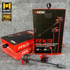 [Dual Mic, Free cáp PC] Tai nghe Gaming XMOWI RX3 Mic kép, tai nghe nhét tai chuyên dùng chơi pubg, game mobile-Tăng kèm cáp chuyển đổi để dùng cho máy tính, laptop-Goodshop4u
