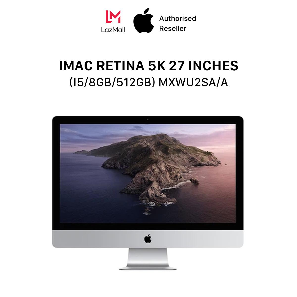 iMac Retina 5K (5120×2880) 27 inches (i5 6-core / 3.3GHz Turbo Boost up to 4.8GHz / 8GB / 512GB) l MXWU2SA/A l HÀNG CHÍNH HÃNG