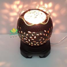 Đèn Xông tinh dầu Gốm giả đồng + tặng tinh dầu 10ml