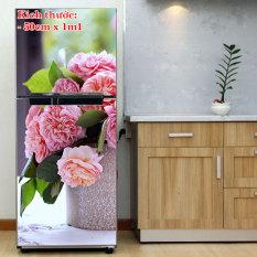 Decal trang trí tủ lạnh mẫu Bó Hoa 2. Nhựa PVC độ bền cao, không thấm nước. 100% thương hiệu mới, chất lượng cao