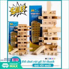(LOẠI TO) Đồ chơi rút gỗ 54 thanh, Đỗ chơi rút gỗ cỡ lớn, Đồ chơi rút gỗ giá rẻ- Gỗ tự nhiên, an toàn khi sử dụng