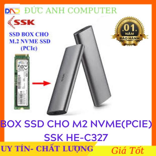SSD Box chuyển M.2 NVMe SSD PCIe sang ổ cứng di động – SSK HE-C327 chuẩn Type-C và USB 3.0