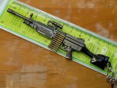 Móc khóa PUBG – M249 màu Xám Đen chất lừ – Hình thật giá chất