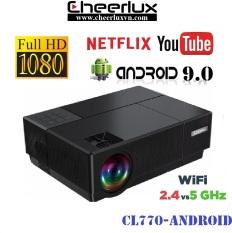 [Nhập ELAPR21 giảm 10% tối đa 200k đơn từ 99k]Máy chiếu Android FULL HD Cheerlux CL770 projector kết nối WIFI Bluetooth xem youtube netflix tivi online thật tiện lợi.