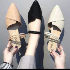Giày sục nữ mang 2 kiểu chất liệu cao cấp mềm mại thiết kế thời trang sang trọng phù hợp với nhiều trang phục