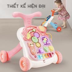 Xe tập đi em bé có nhạc tích hợp đàn Piano ngộ nghĩnh chống vòng kiềng điều chỉnh độ cao và tốc độ