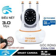 Camera yoosee Thế Hệ Mới Độ Phân giải 3.0mpx Góc Rộng 2304×1906 Thế hệ mới nhất, Hỗ trợ tiếng việt. BẢO HÀNH CHÍNH HÃNG 1 NĂM