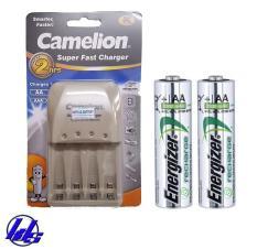 Combo bộ sạc nhanh pin AA, AAA Camelion BC-0905A kèm 2 pin sạc Energizer AA 2300mAh