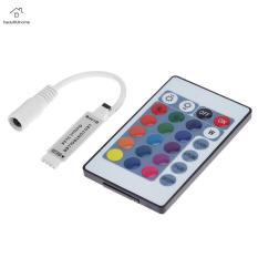 Bộ Điều Khiển RGB Không Dây IR 5-24V 24 Phím Điều Khiển Từ Xa Cho LED Strip