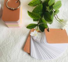 combo 100 thẻ flashcard trắng dày vừa Flashcard thẻ học từ vựng tiếng anh nhật hàn trung cao cấp | Bộ thẻ học tiếng nước ngoài