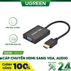 Cáp chuyển đổi HDMI sang VGA+3.5mm Audio+nguồn micro USB dài 15CM UGREEN MM102 40233 – Hãng phân phối chính thức
