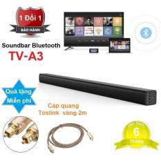 Loa thanh cho TV âm thanh 5.1 biến nhà bạn thành phòng chiếu phim – Bluetooth Soundbar A3 + Tặng kèm Dây quang âm thanh Optical mạ vàng cao cấp – Loa thanh Soundbar A3
