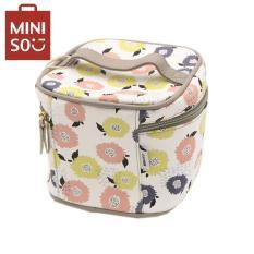 Túi đựng mỹ phẩm Miniso họa tiết hoa