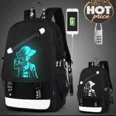 Balo dạ quang phát sáng, kèm khóa số chống trộm và cổng sạc USB