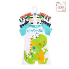 Set 5 áo liền quần dành cho bé trai BABY WEAR sơ sinh đến 12 tháng ( Màu ngẫu nhiên )